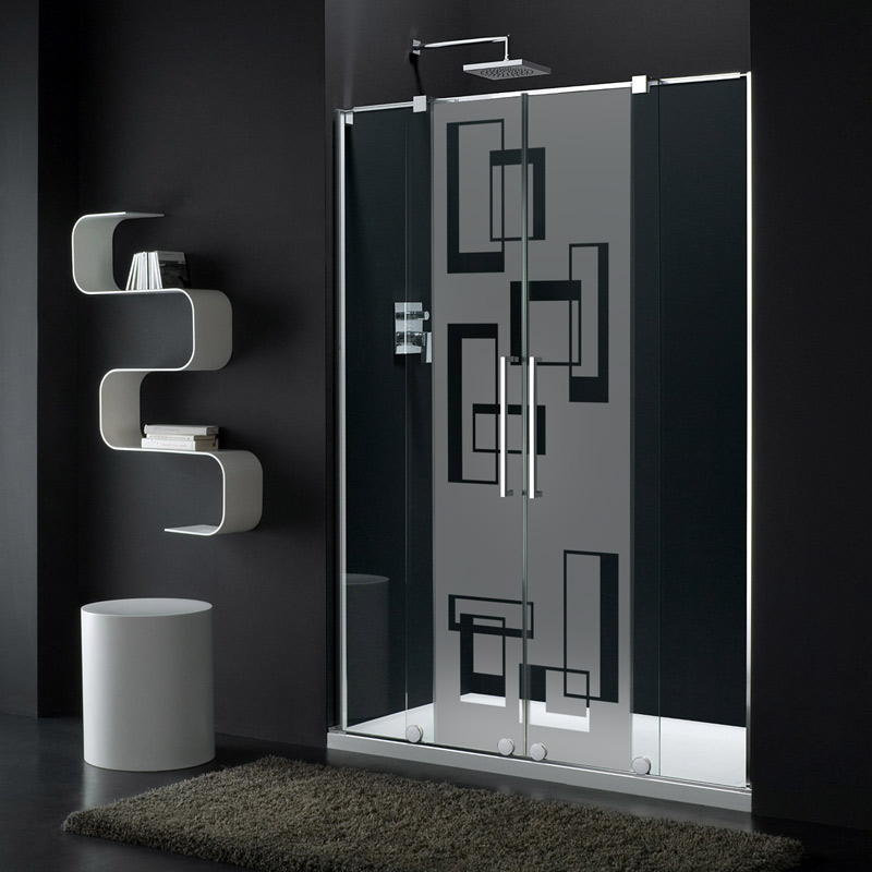 sticker porte de douche l art abstrait stickers art et. Black Bedroom Furniture Sets. Home Design Ideas