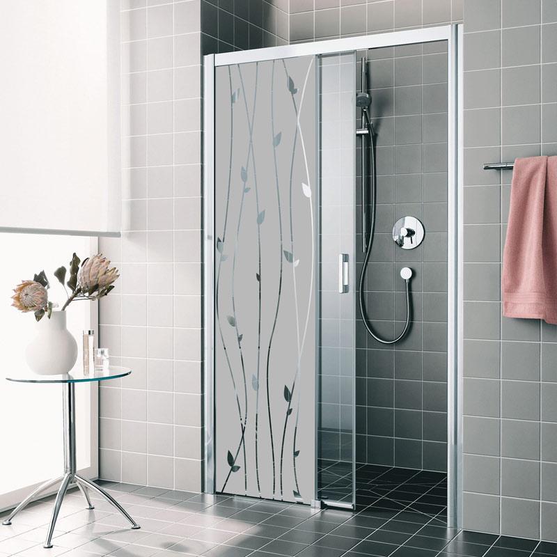 sticker porte de douche lianes romantiques stickers art. Black Bedroom Furniture Sets. Home Design Ideas