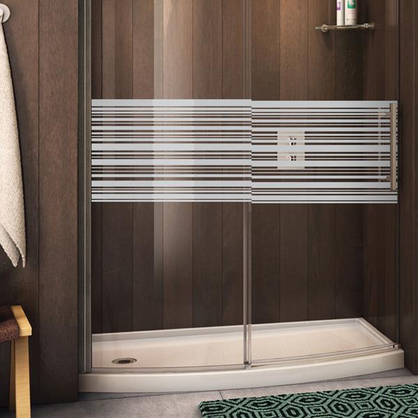 stickers muraux pour portes de douche lignes horizontales. Black Bedroom Furniture Sets. Home Design Ideas