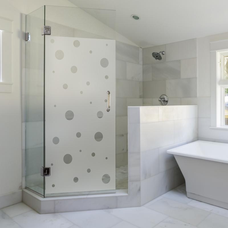 sticker porte de douche petites bulles stickers art et design bandes verticales ambiance sticker. Black Bedroom Furniture Sets. Home Design Ideas