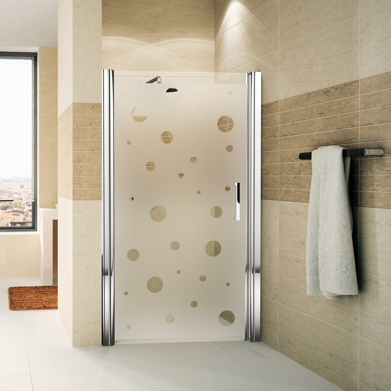 Sticker porte de douche petites bulles stickers art et for Stickers de porte