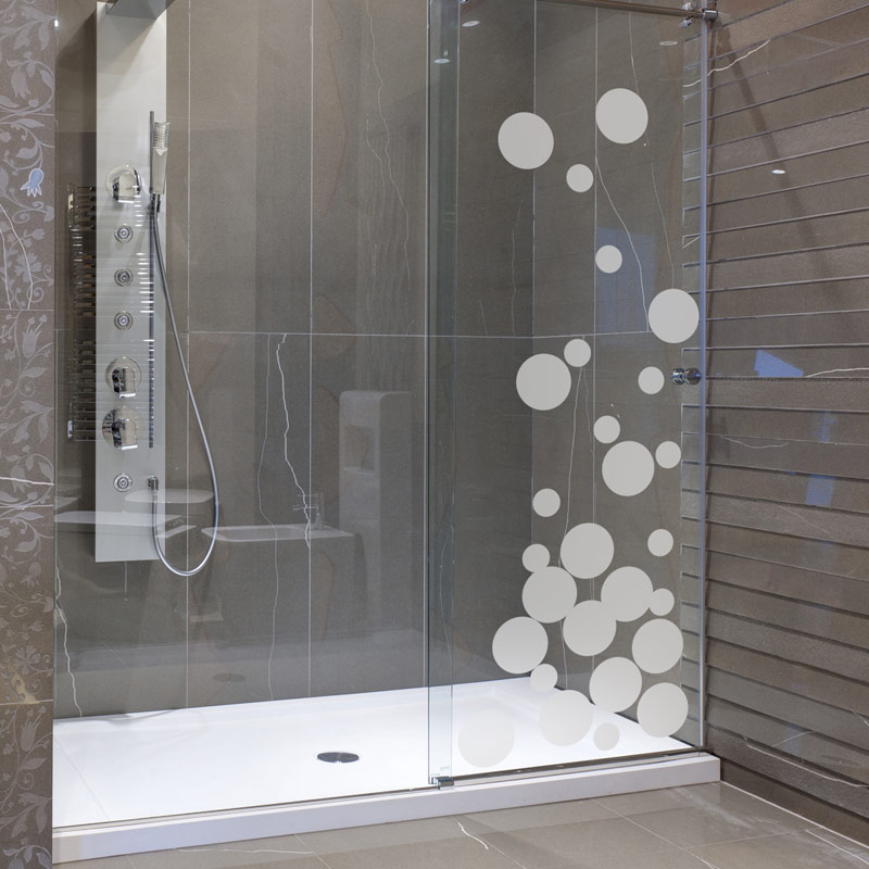 sticker porte de douche petites bulles de savon stickers art et design bandes verticales. Black Bedroom Furniture Sets. Home Design Ideas