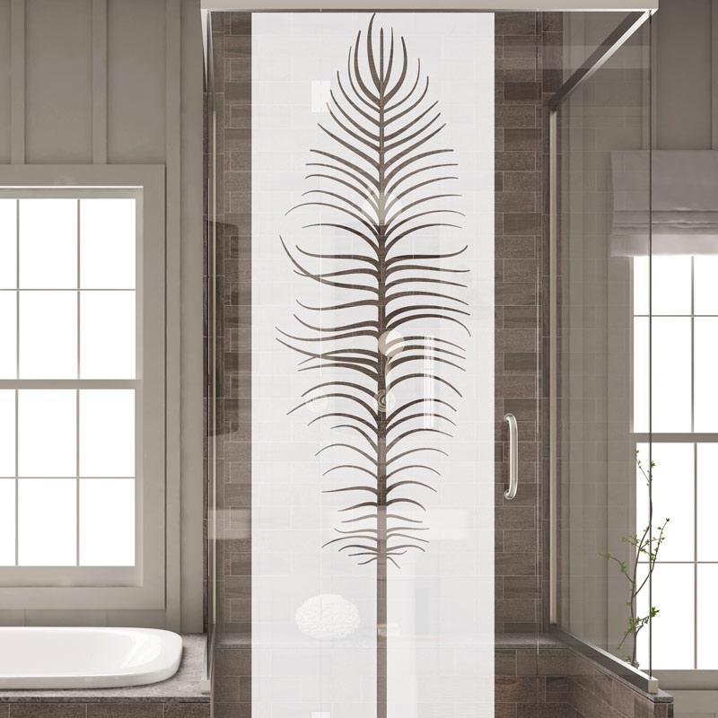 sticker porte de douche plume stickers art et design bandes verticales ambiance sticker. Black Bedroom Furniture Sets. Home Design Ideas