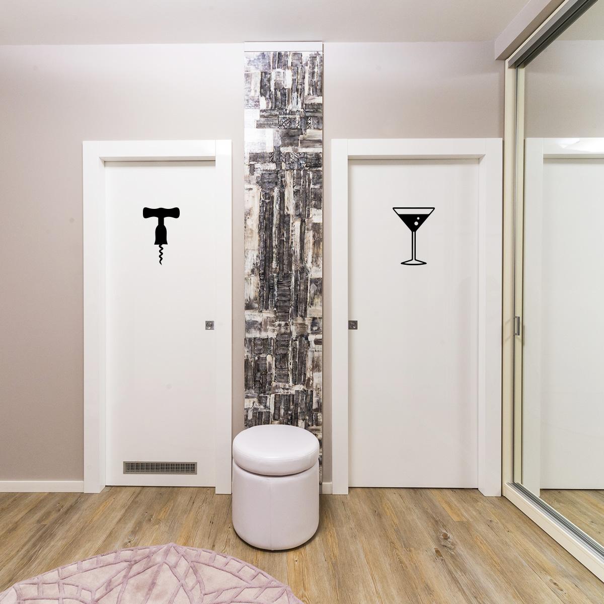 sticker porte de toilette homme femme festif stickers. Black Bedroom Furniture Sets. Home Design Ideas