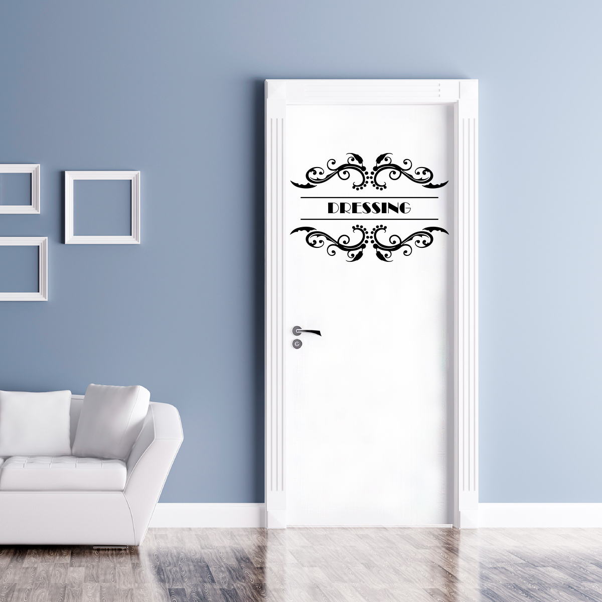 Sticker porte dressing orn stickers citations chambre for Stickers de porte