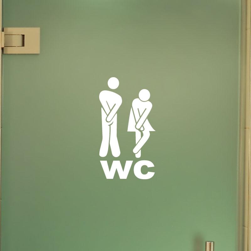 Sticker muraux pour portes sticker porte figure wc 1 ambiance - Stickers porte wc ...