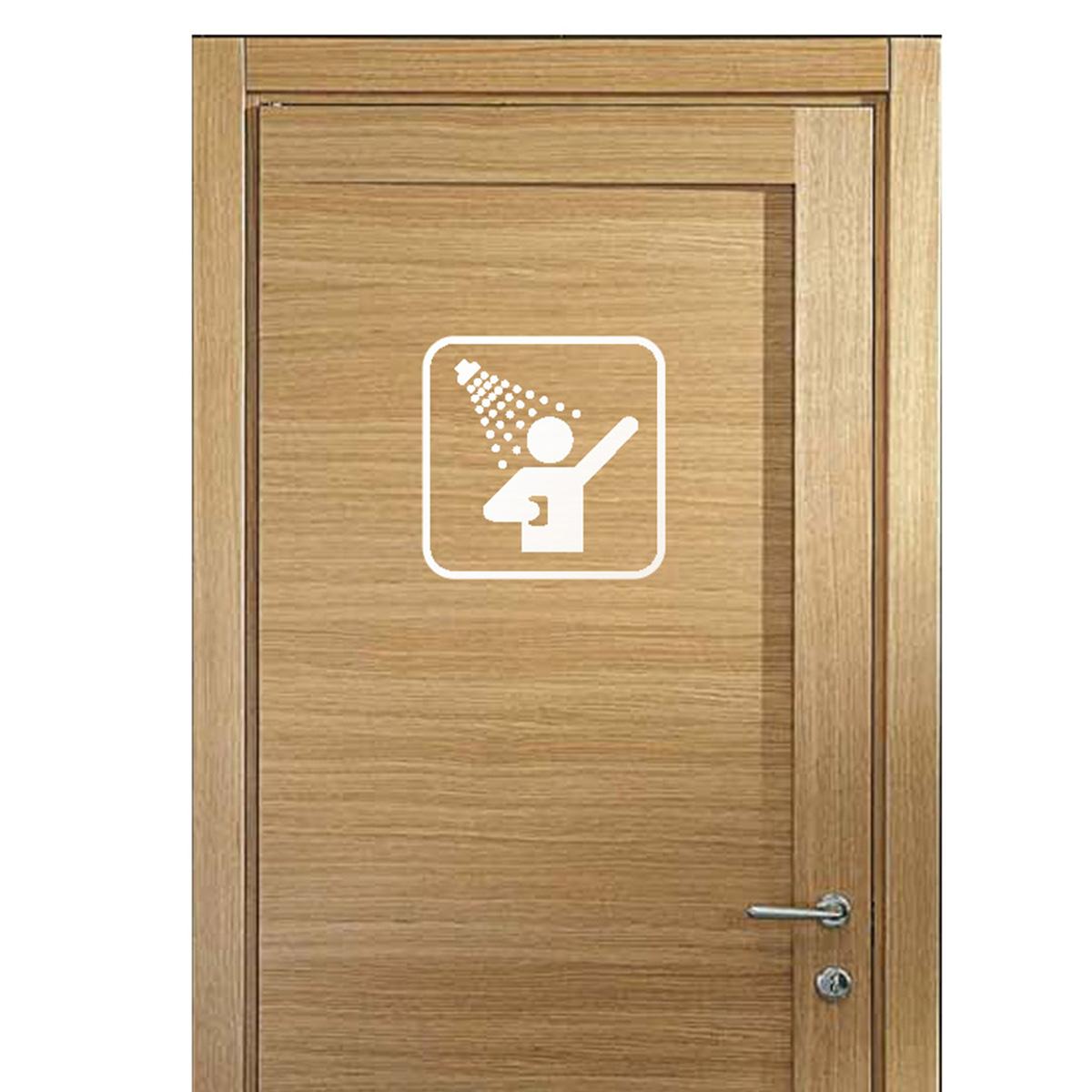 sticker porte panneau douche stickers salle de bain et. Black Bedroom Furniture Sets. Home Design Ideas