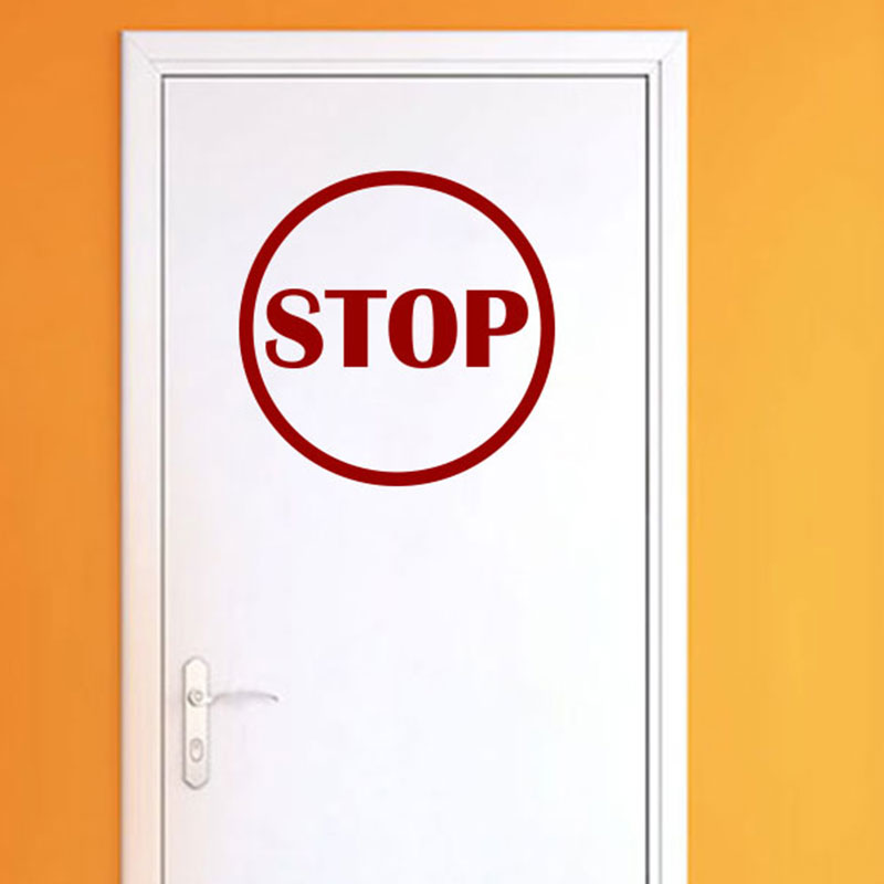 Sticker porte panneau signal tique stickers chambre ado for Stickers pour porte de chambre