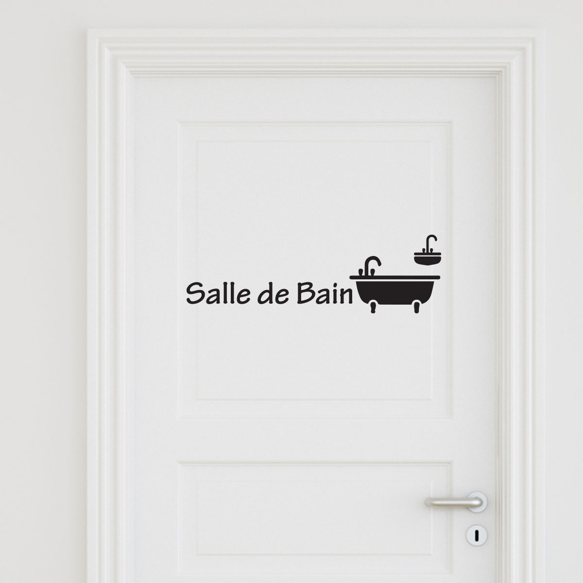 sticker porte salle de bain 3 stickers portes salle de. Black Bedroom Furniture Sets. Home Design Ideas