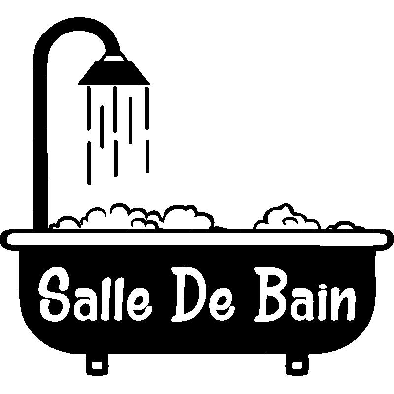 Sticker porte salle de bain baignoire avec mousse - Stickers porte salle de bain ...