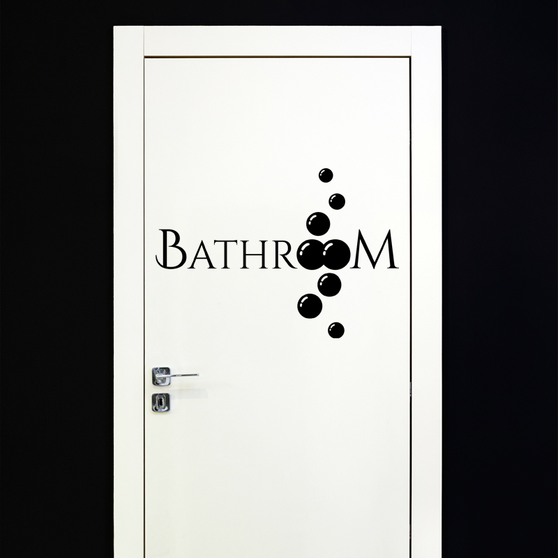 sticker porte salle de bain bathroom stickers art et. Black Bedroom Furniture Sets. Home Design Ideas