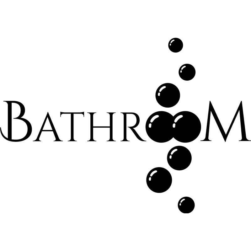 Sticker porte salle de bain bathroom stickers art et design bulles et cercles ambiance sticker - Stickers salle de bain ...