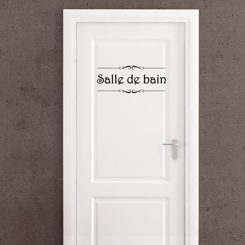 Sticker porte salle de bain et toilettes stickers for Stickers carreaux salle de bain