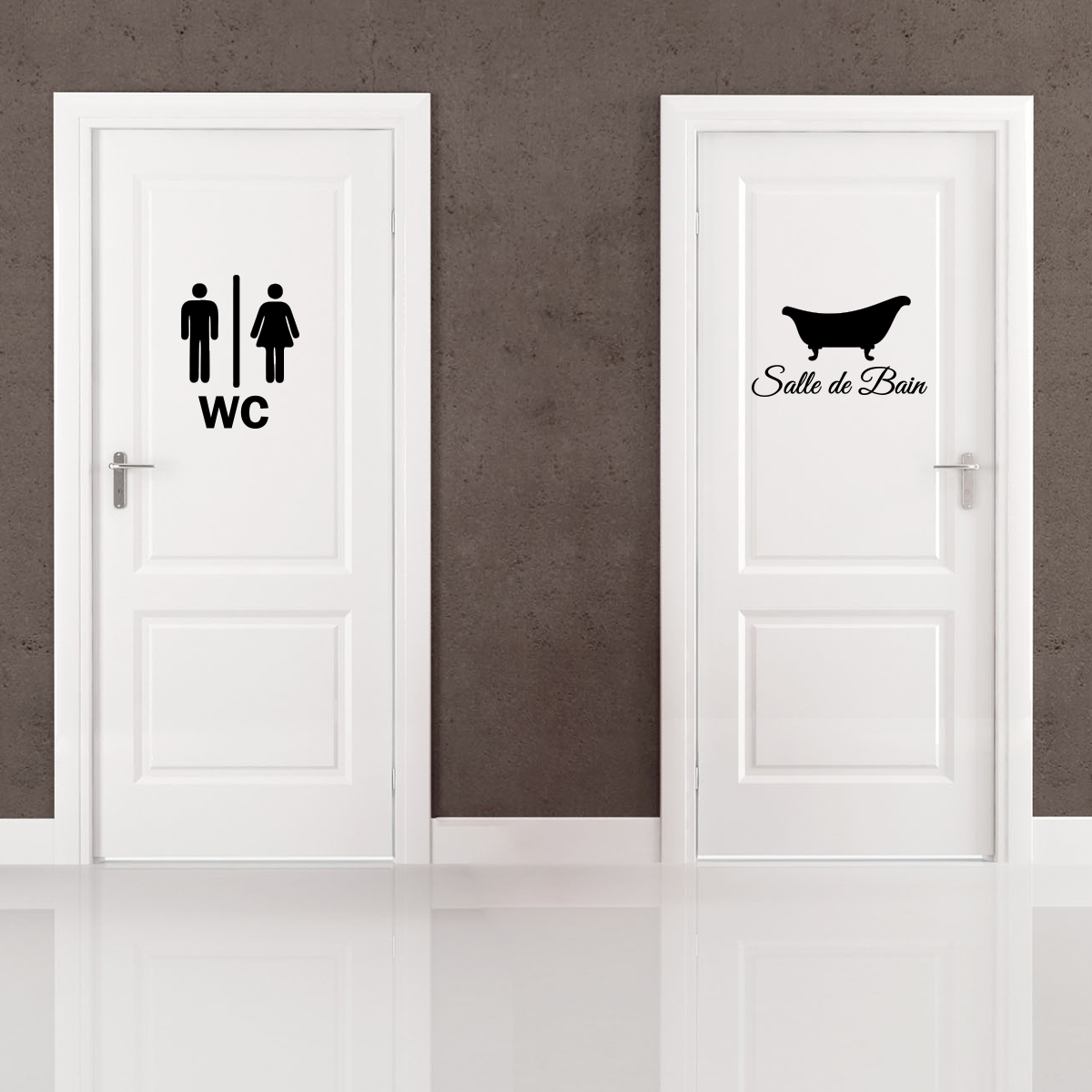sticker porte salle de bain et wc stickers salle de bain et wc salle de bain ambiance sticker. Black Bedroom Furniture Sets. Home Design Ideas