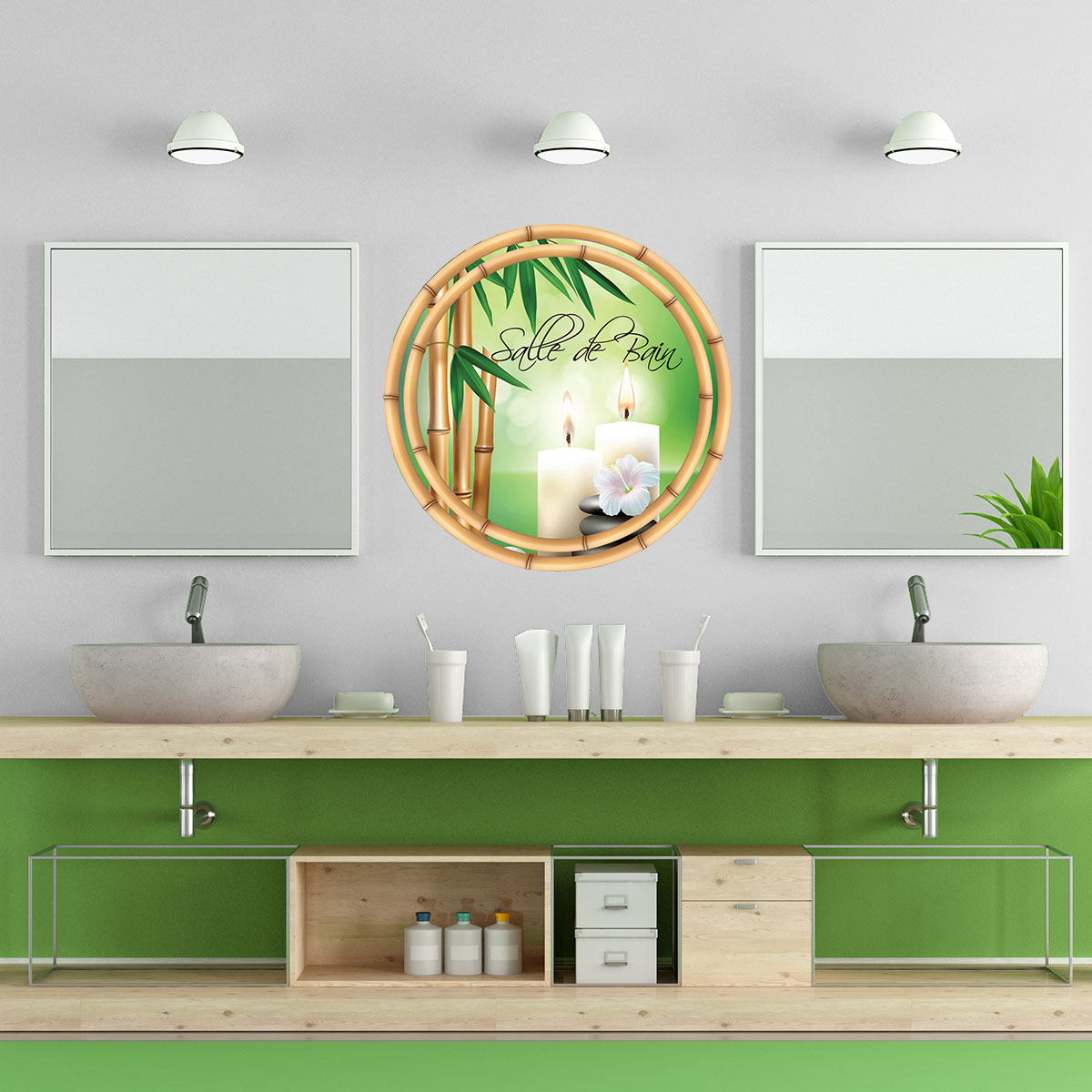 Grille Aeration Fenetre Salle De Bain ~ Stickers Salle De Bain Zen Great Stickers Banzai Stickers Zen M