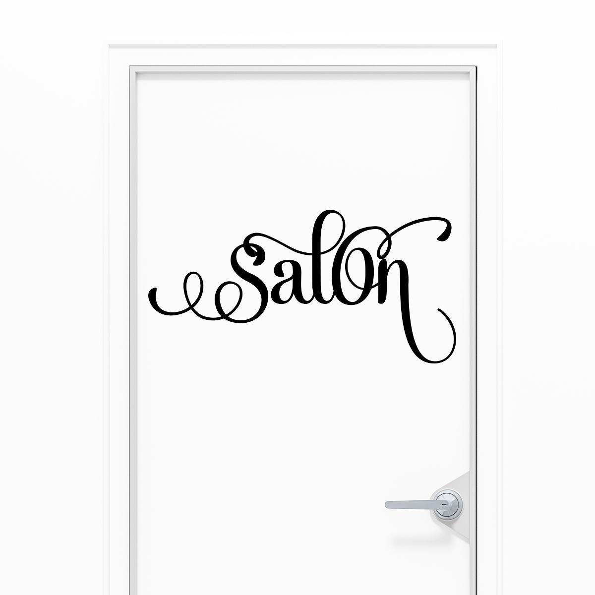 Sticker porte salon l gant stickers salon s jour for Porte a salon