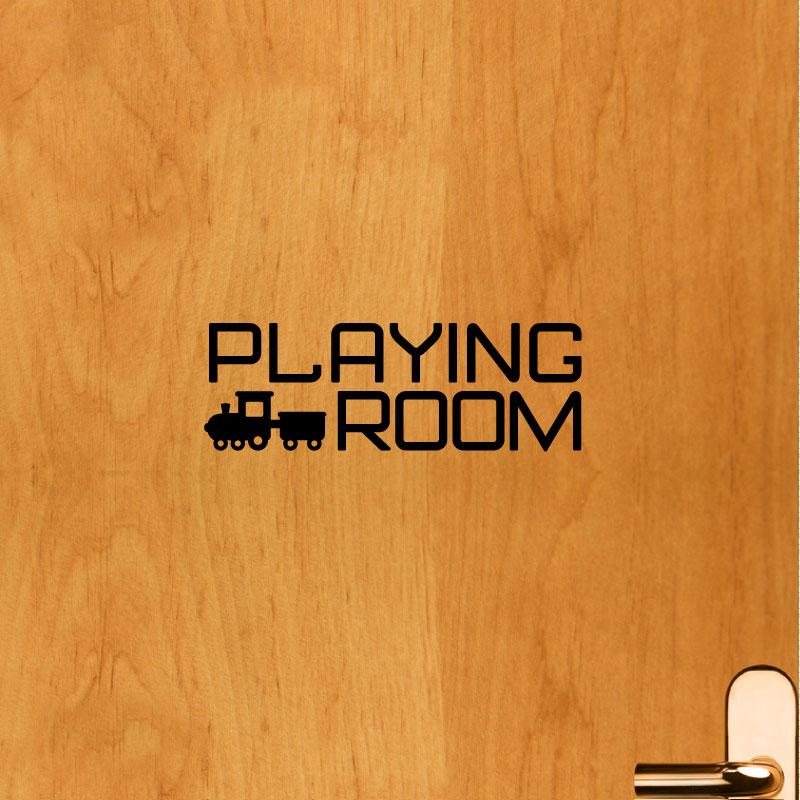 sticker muraux pour portes sticker porte signal tique de la maison en anglais ambiance. Black Bedroom Furniture Sets. Home Design Ideas
