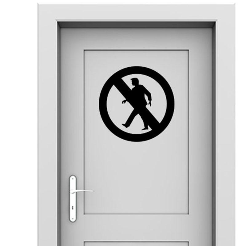 Sticker porte signal tique panneau d fense d 39 entrer for Stickers pour porte chambre
