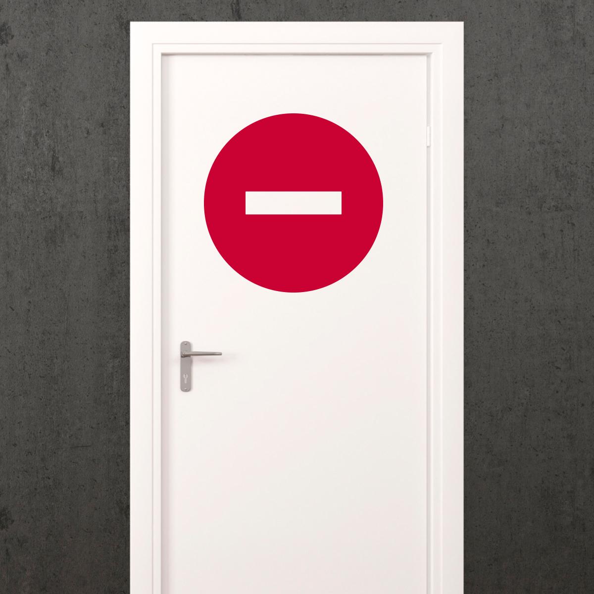 Sticker porte signal tique sens interdit stickers for Stickers pour chambre ado garcon