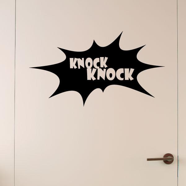 Sticker muraux pour portes - Sticker porte toc-toc  Ambiance-sticker ...