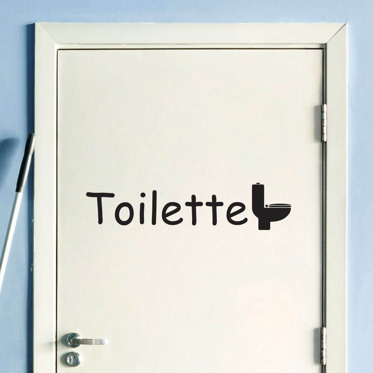 sticker porte toilette stickers salle de bain et wc. Black Bedroom Furniture Sets. Home Design Ideas