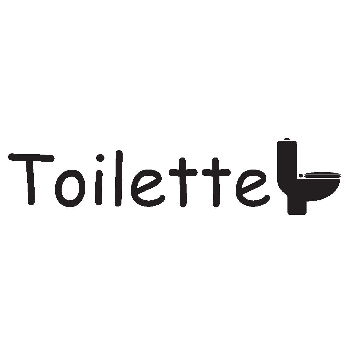 Sticker porte toilette stickers salle de bain et wc for Stickers pour porte de toilette