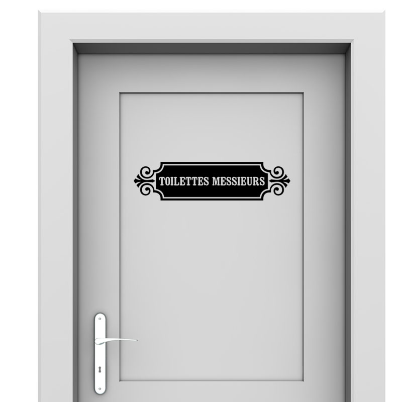 Sticker porte toilette messieurs stickers toilettes for Porte toilette