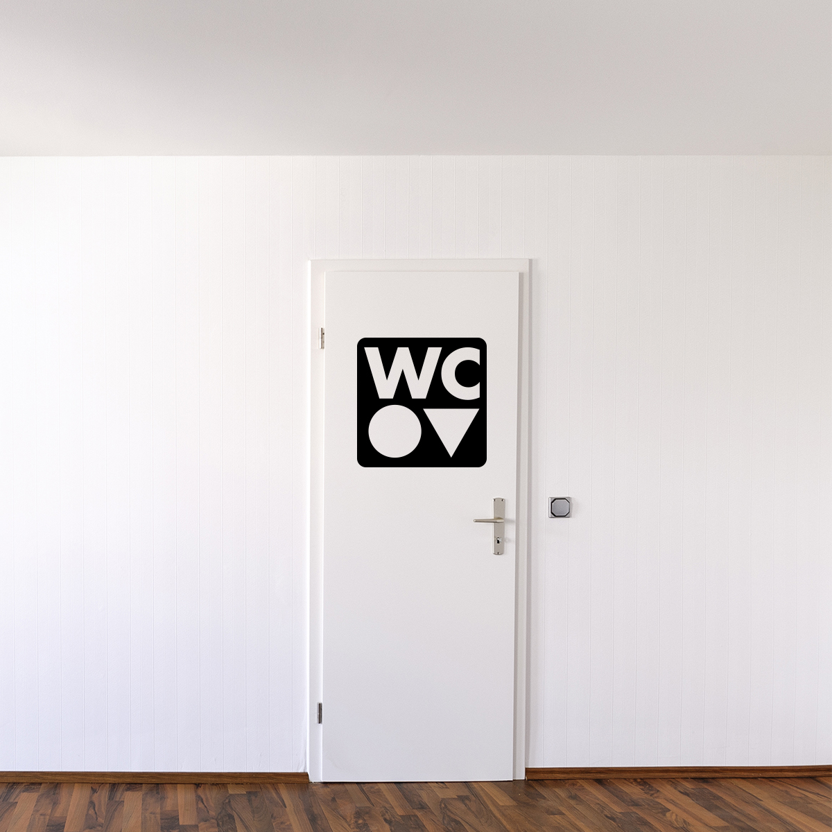 Stickers porte wc maison design for Autocollant porte wc