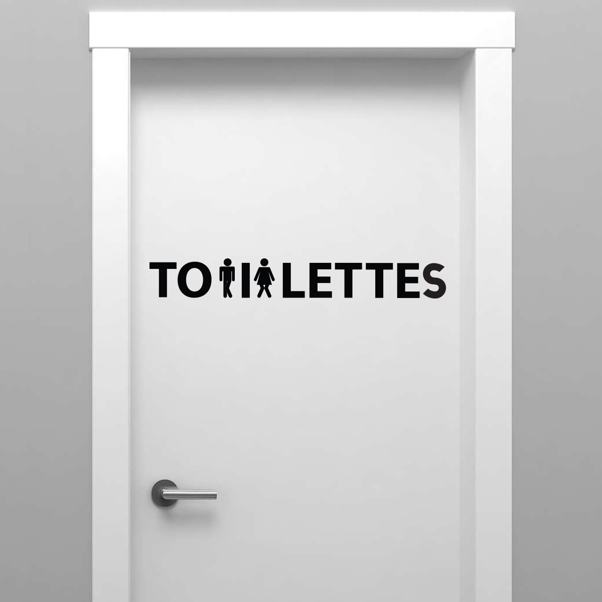 Sticker porte toilettes femme et homme press s stickers for Stickers pour porte toilettes