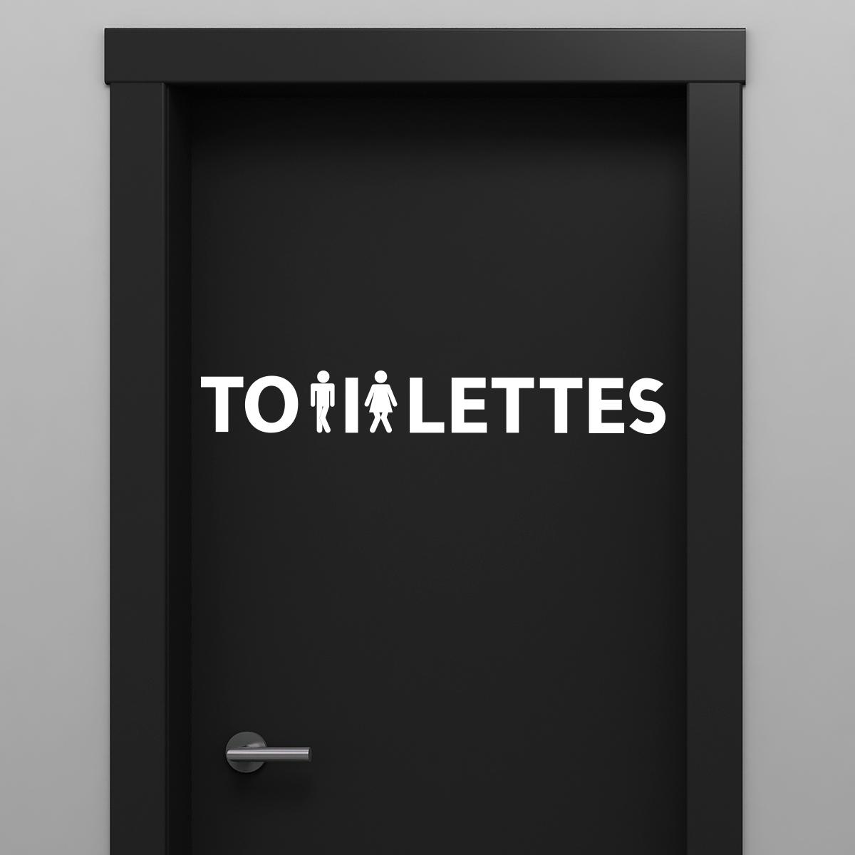 sticker porte toilettes femme et homme press s stickers. Black Bedroom Furniture Sets. Home Design Ideas