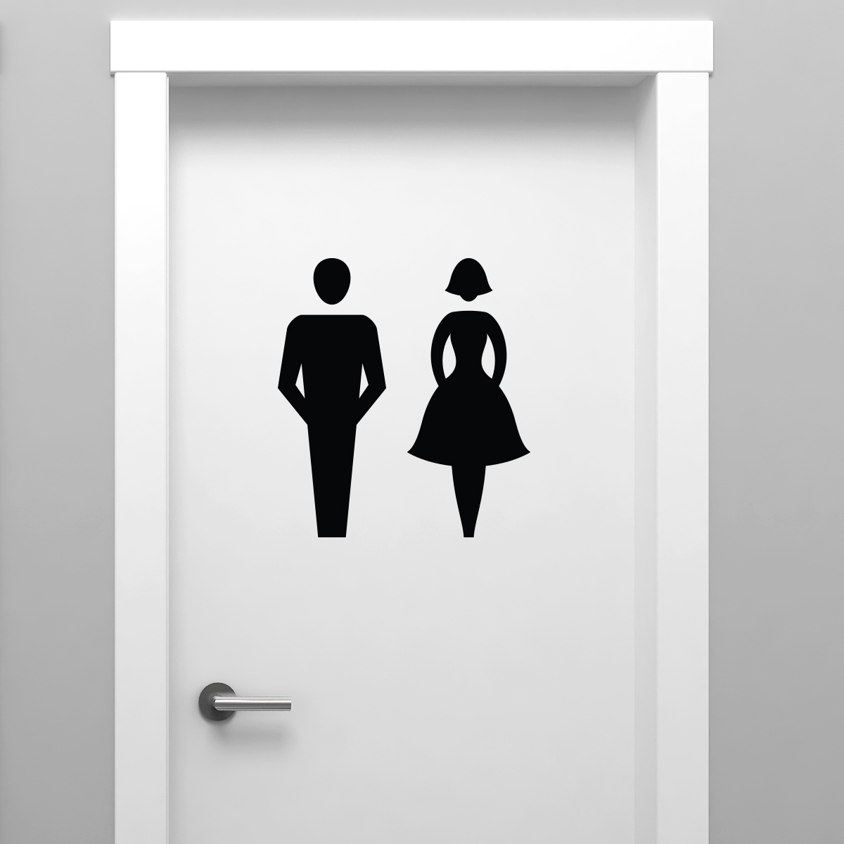 Sticker porte toilettes homme et dame chic stickers for Stickers pour porte toilettes