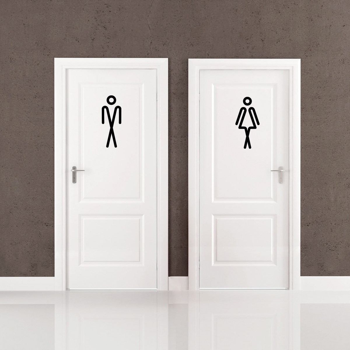 Sticker porte toilettes homme et femme stickers for Porte toilette