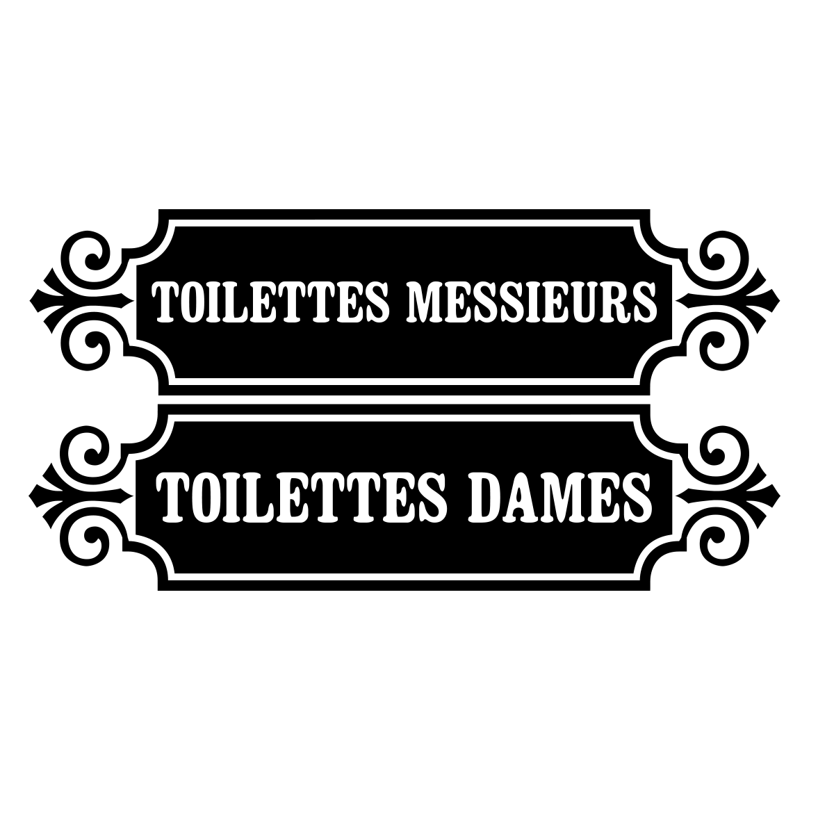 sticker porte toilettes messieurs toilettes dames stickers toilettes porte ambiance sticker. Black Bedroom Furniture Sets. Home Design Ideas