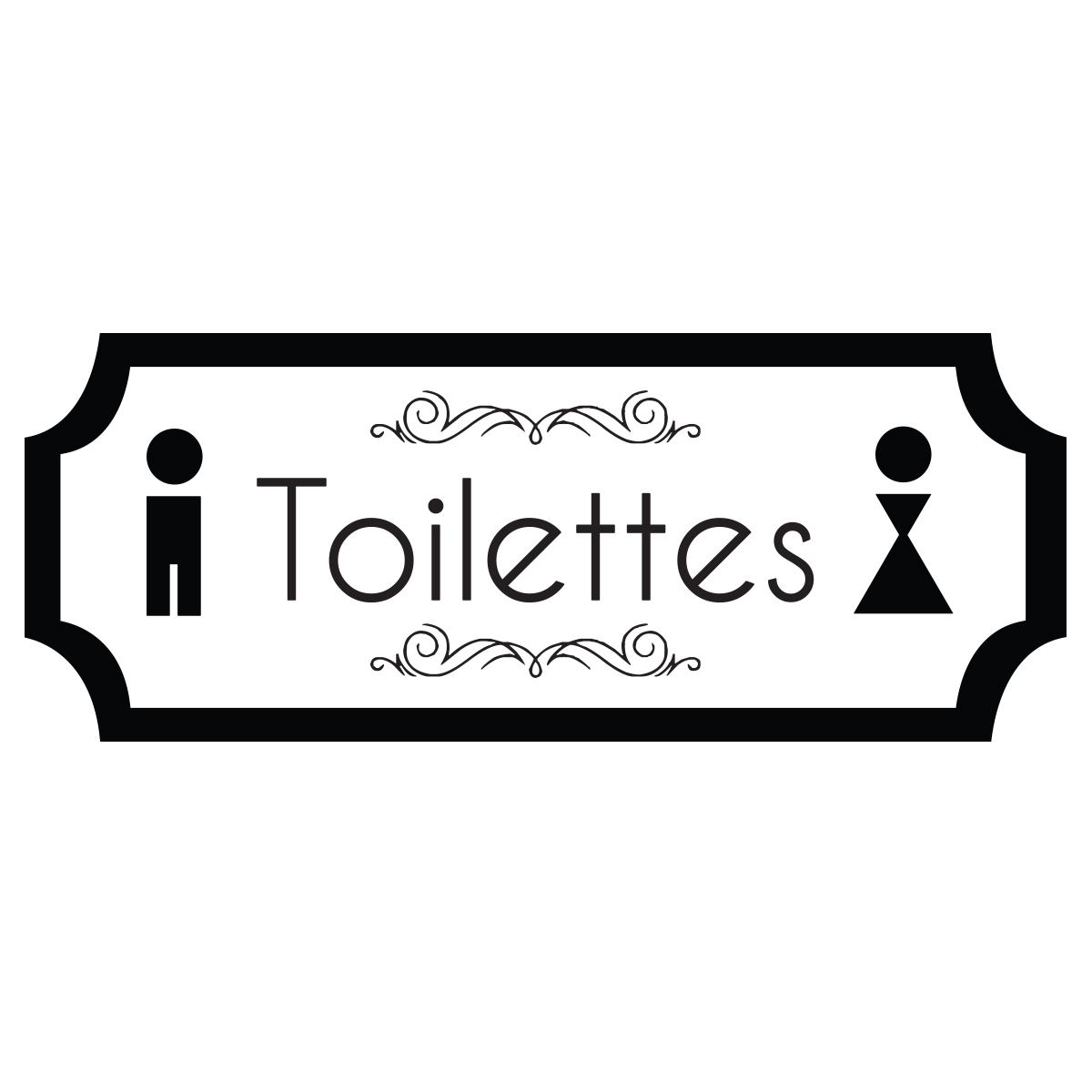 Sticker porte toilettes porte design stickers toilettes for Stickers pour porte toilettes