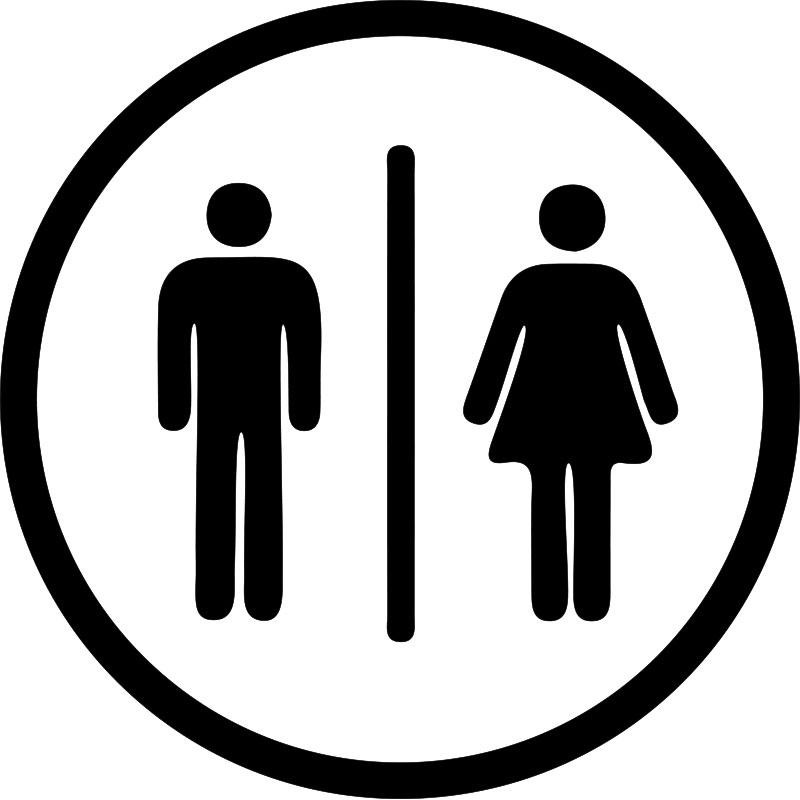 Sticker porte wc homme femme stickers salle de bain et wc toilettes ambiance sticker - Stickers porte salle de bain ...
