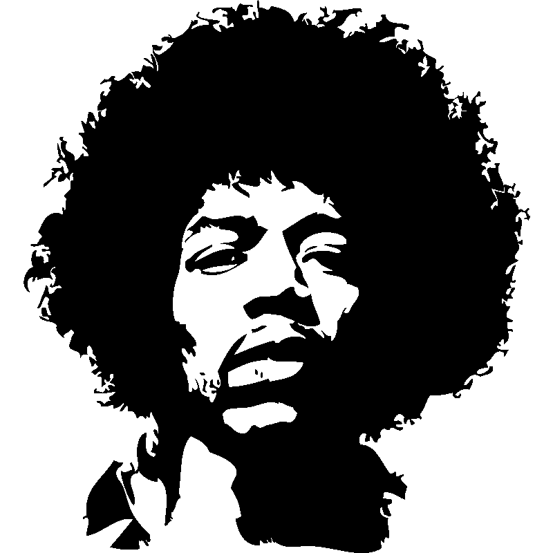 Jimi hendrix stickers kamos sticker for Stickers muraux