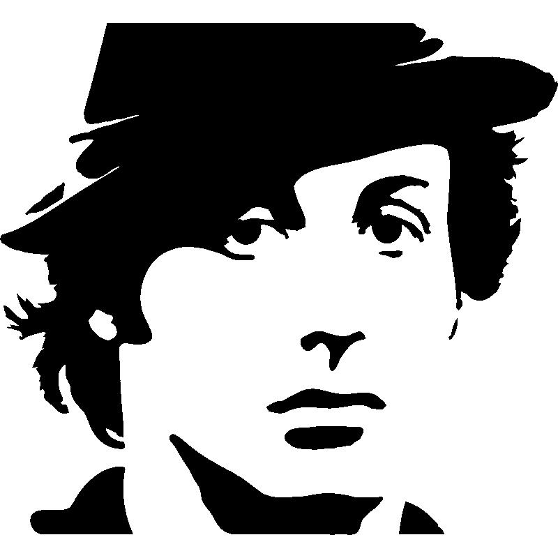 sticker portrait sylvester stallone - stickers musique  u0026 cinema cinema