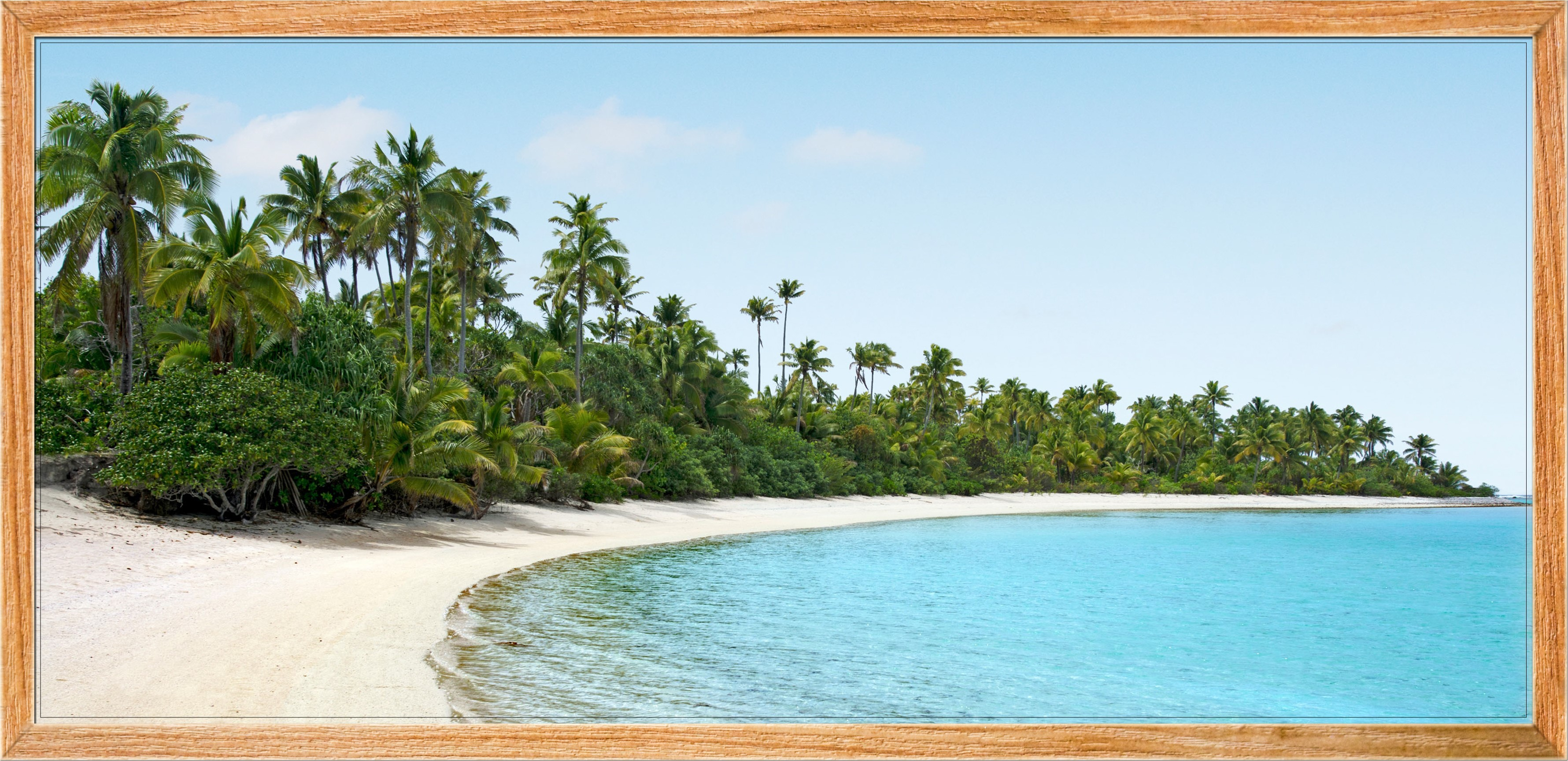 Sticker poster plage paradisiaque stickers nature arbres - Image de plage paradisiaque ...