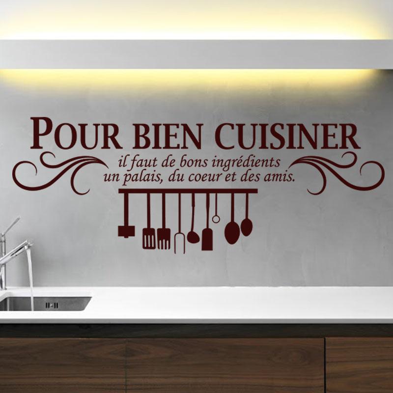 sticker pour bien cuisiner stickers cuisine textes et. Black Bedroom Furniture Sets. Home Design Ideas