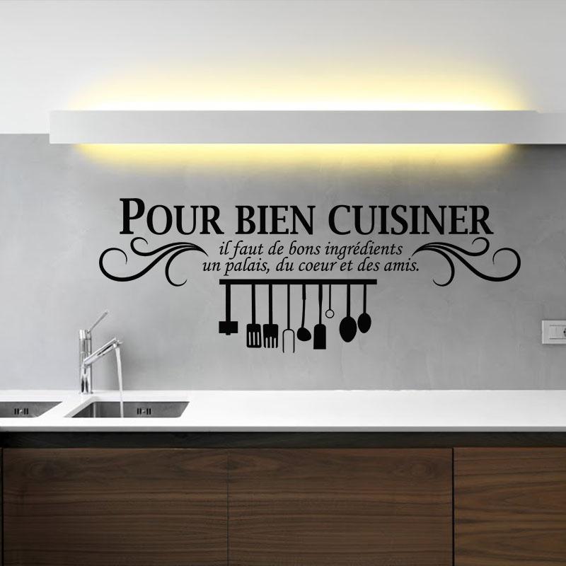 sticker pour bien cuisiner stickers cuisine textes et recettes ambiance sticker. Black Bedroom Furniture Sets. Home Design Ideas