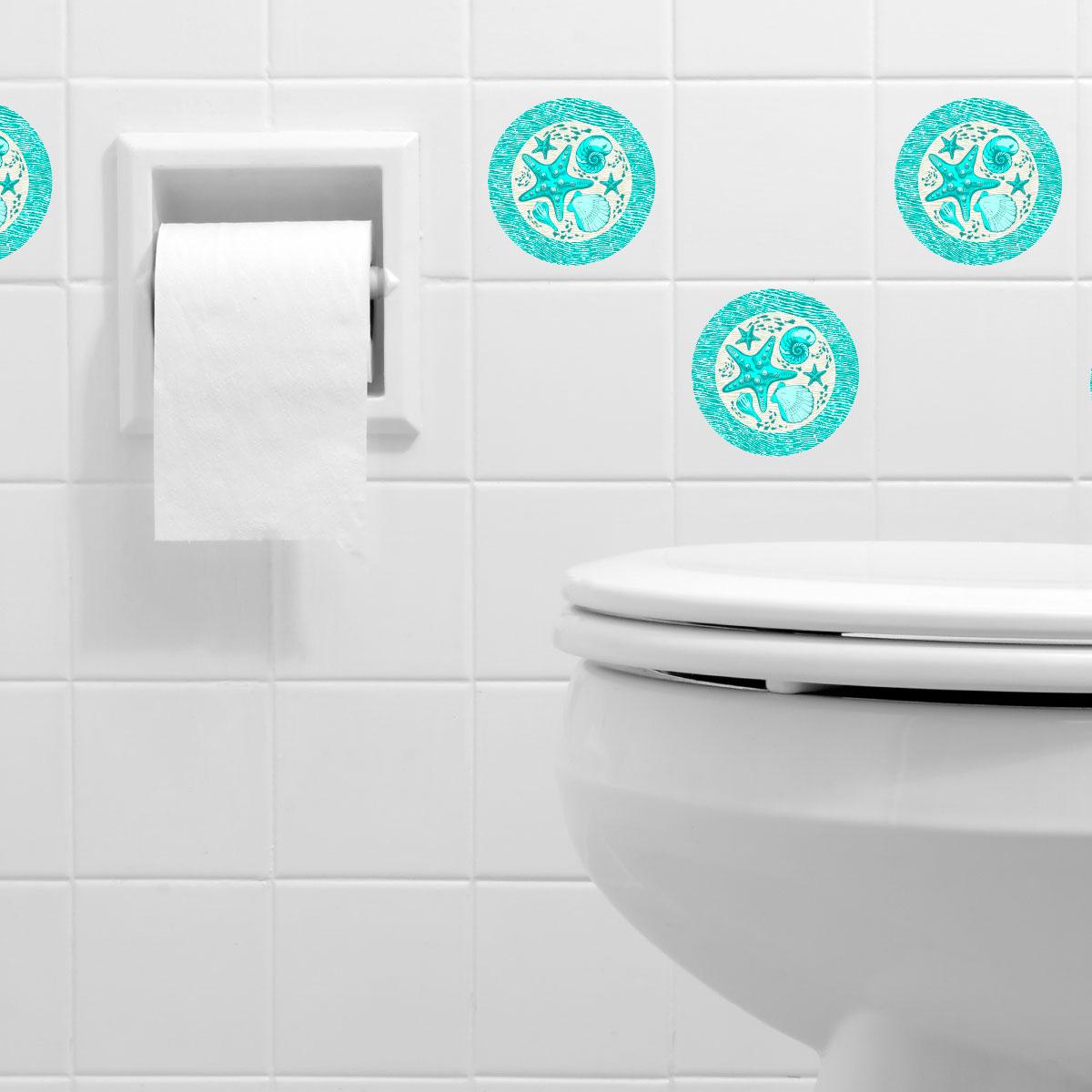 Carrelage Salle De Bain Jungle ~ sticker pour carrelage etoiles de mer et coquillages art et design