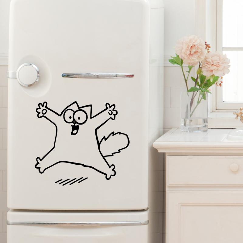 stickers muraux pour r frig rateur sticker frigo de chat ambiance. Black Bedroom Furniture Sets. Home Design Ideas