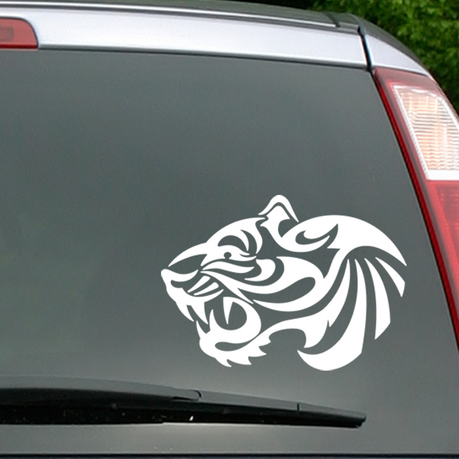 Stickers Et Autocollants Voiture - Sticker Tête De Tigre