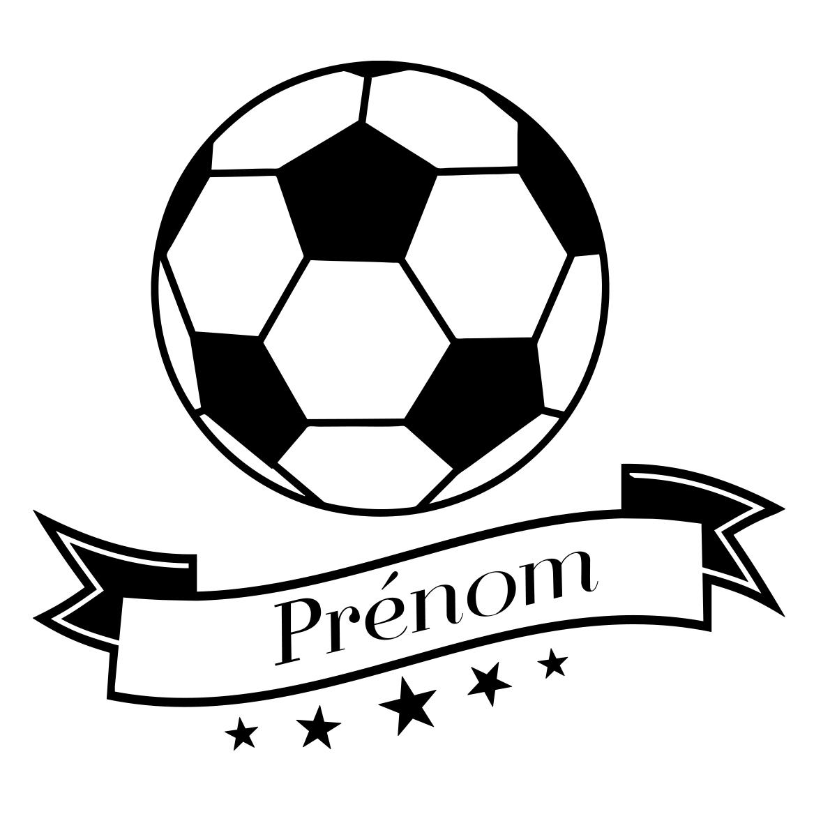 Sticker pr nom personnalisable ballon de foot stickers - Dessin ballon foot ...