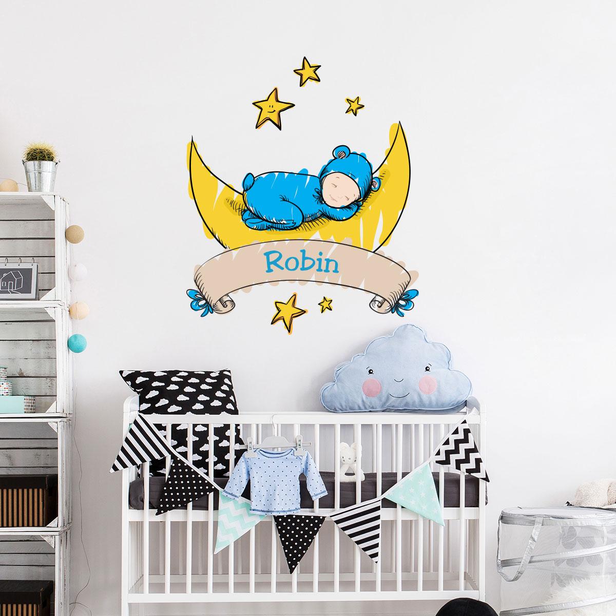 sticker pr nom personnalisable b b fait dodo stickers. Black Bedroom Furniture Sets. Home Design Ideas