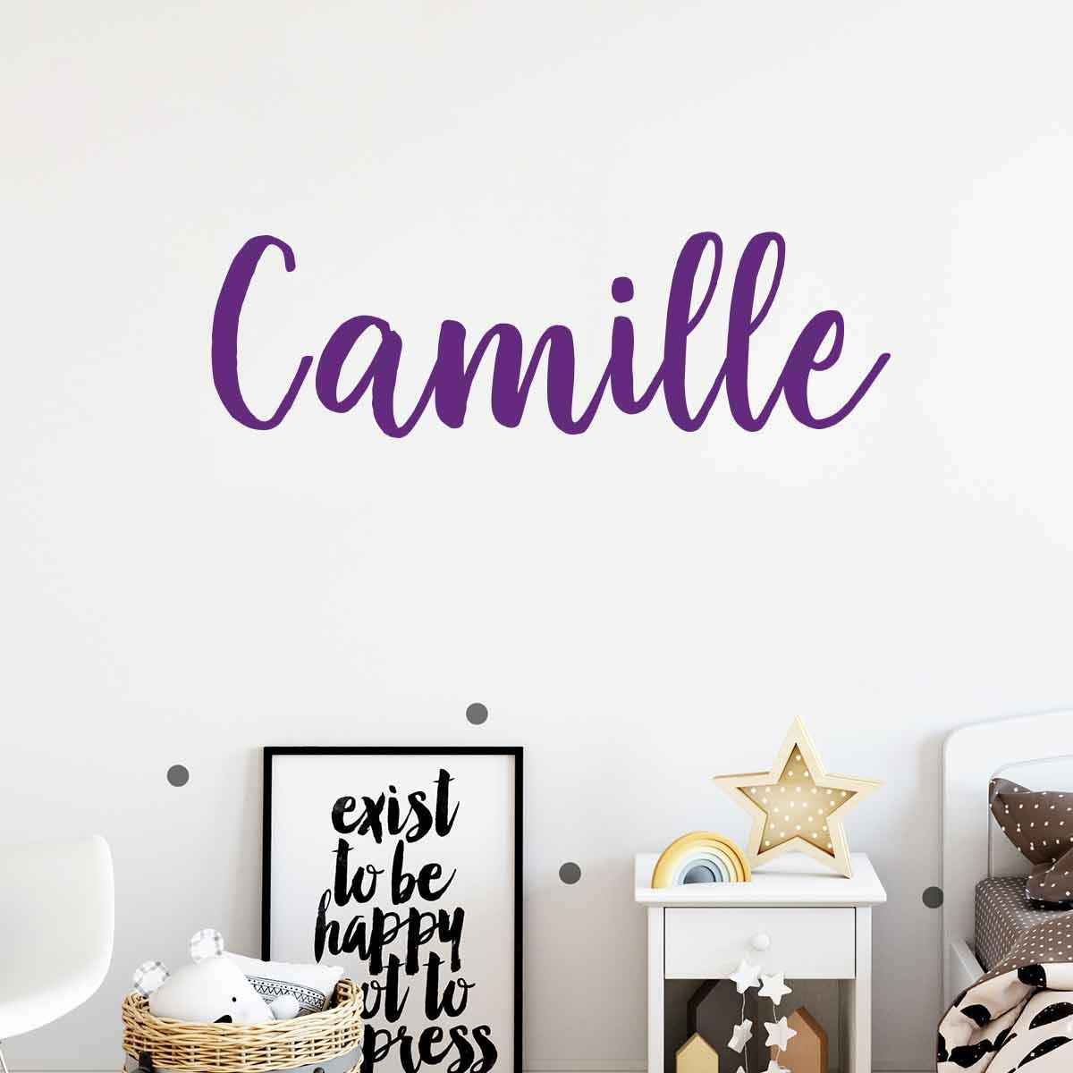 sticker pr nom personnalisable calligraphie l gante. Black Bedroom Furniture Sets. Home Design Ideas