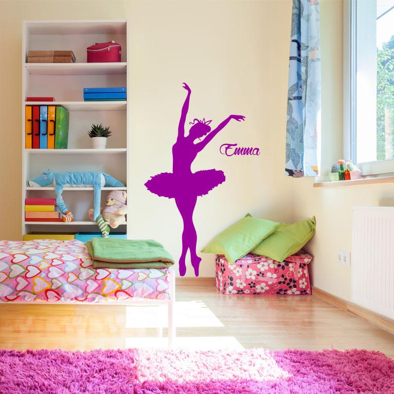 sticker pr nom personnalisable danseuse toile texte personnalisable pr nom ambiance sticker. Black Bedroom Furniture Sets. Home Design Ideas