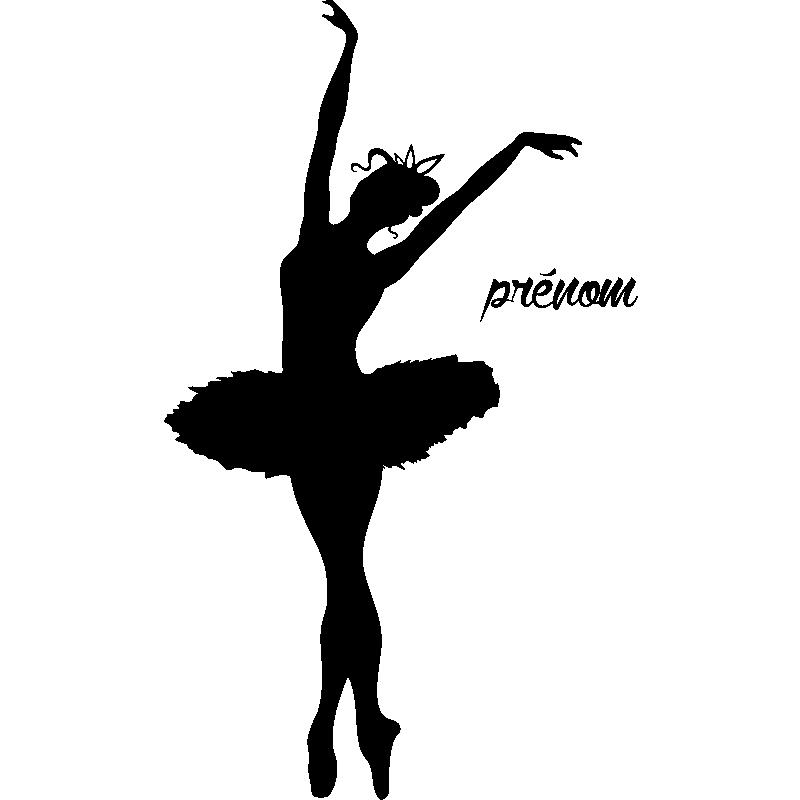 sticker pr nom personnalisable danseuse toile texte