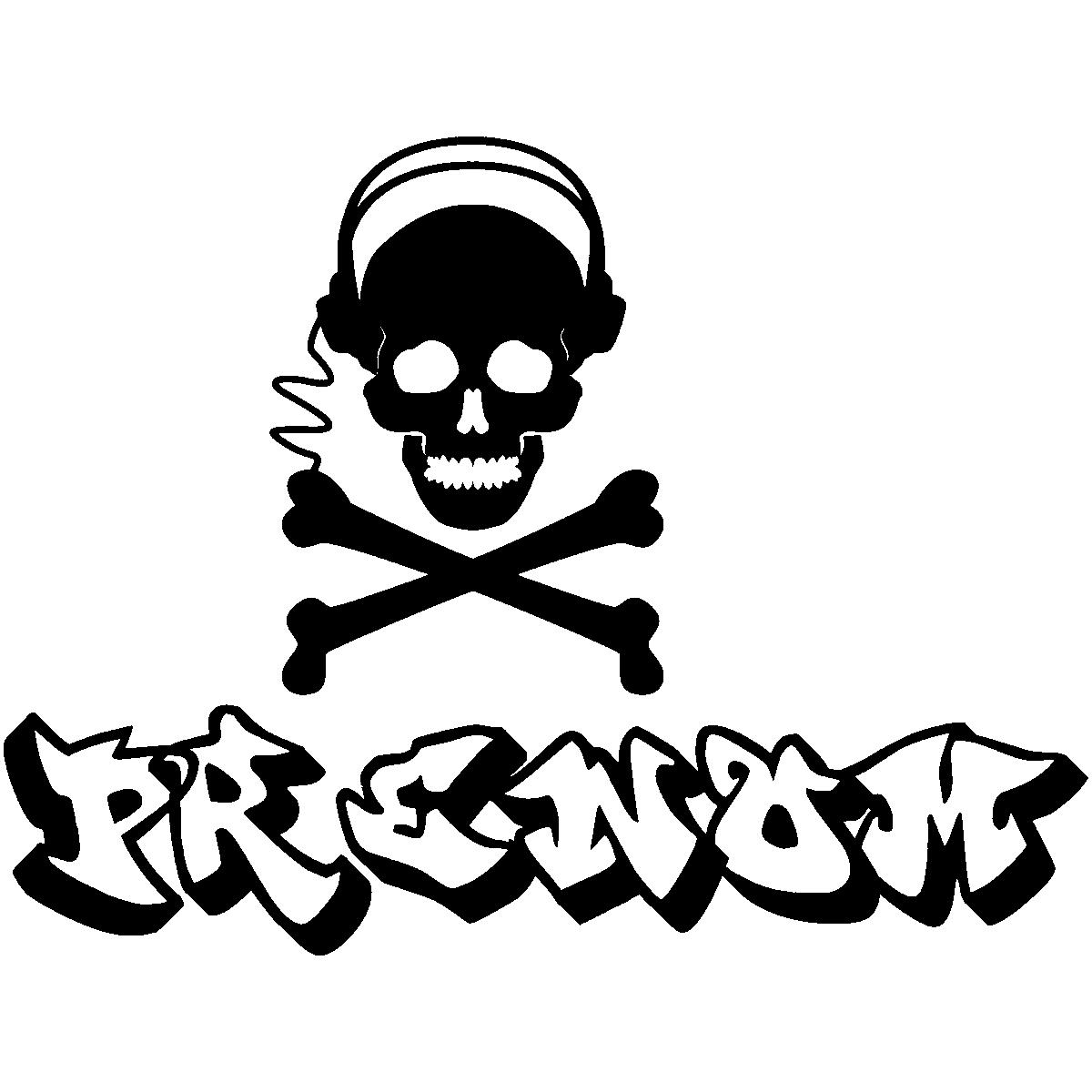 Sticker Pr Nom Personnalisable Dead Music Graffiti Musique