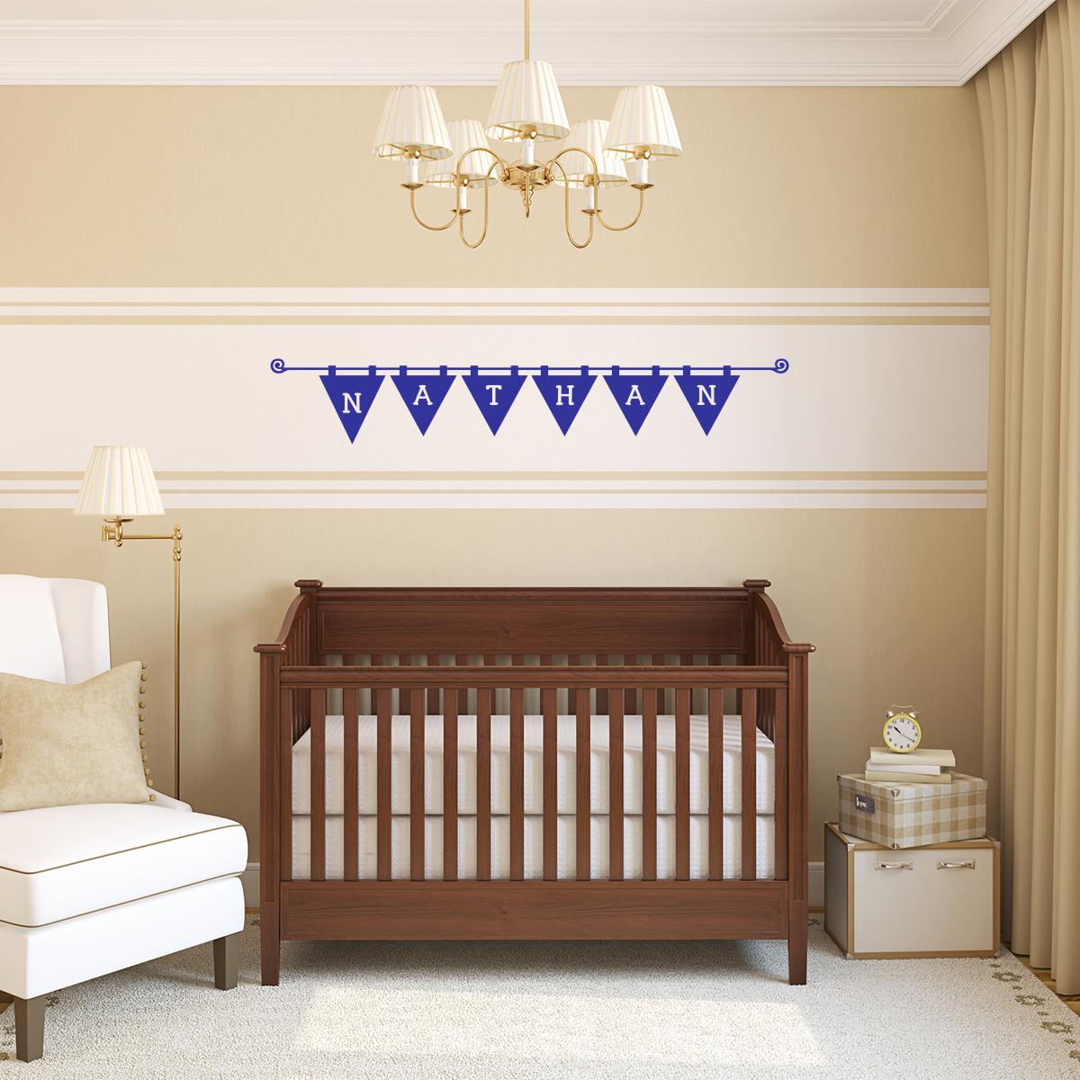 sticker pr nom personnalisable enfants banderole. Black Bedroom Furniture Sets. Home Design Ideas
